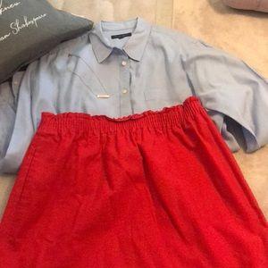 Red Scalloped J. Crew Factory Skirt 14 - Stunning!